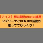 【アイス】荒井健治のwiki経歴!シズリーナとKENJIの活動が違っててびっくり!